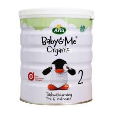 丹麦Arla 宝贝与我(Baby&me)有机婴儿奶粉 2段600g (保税仓发货)(2件装)