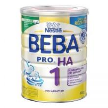 德国Nestlé雀巢BEBA贝巴适度水解免敏奶粉1段(0-6个月)800g(保税仓发货)