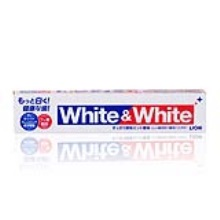 日本Lion狮王 WHITE&WHITE美白牙膏亮白口气清新 150g (2件起购)