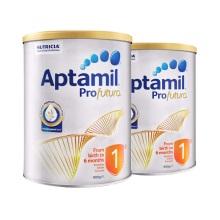 澳洲 Aptamil愛他美 白金版嬰兒配方奶粉1段 900g 0-6月齡(保稅倉發貨)(2件裝)
