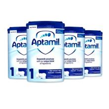 英国Aptamil爱他美 婴儿奶粉 1段(0-6个月宝宝)900g(4件装)(保税仓发货)