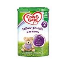 英國 牛欄/Cow&Gate 2段配方嬰幼兒奶粉易樂罐 6-12個月齡 800g(保稅倉發貨)(2件裝)