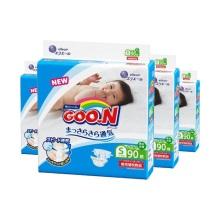 日本大王 GOO.N维E婴儿纸尿裤 小号S90(保税仓发货)(4件装)