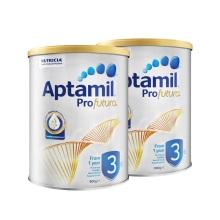 澳洲 Aptamil愛他美 白金版嬰兒配方奶粉3段 900g 一周歲及以上(保稅倉發貨)(2件裝)