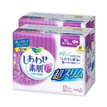 日本花王乐而雅F系列日用卫生巾25cm*17片(保税仓发货)
