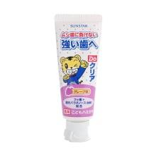 日本进口 sunstar巧虎 儿童牙膏葡萄味 原装进口(保税仓发货)