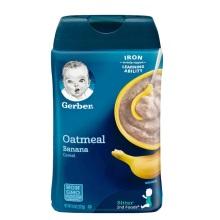 美国Gerber嘉宝 2段香蕉燕麦米粉米糊 227g 婴幼儿辅食【2罐起发】(保税仓发货)