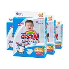 日本大王 GOO.N维E婴儿纸尿裤 中号M68(保税仓发货)(4件装)