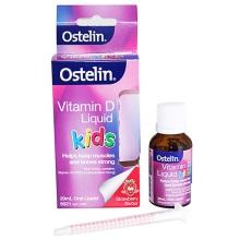 澳大利亚Ostelin VD 维生素滴剂 婴儿童液体维生素D+钙草莓味20ml(保税仓发货)