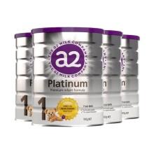 新西兰A2 Platinum酪蛋白婴儿奶粉1段(0-6个月宝宝) 900g(保税仓发货)(4件装)