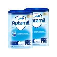 德國 Aptamil愛他美 嬰兒配方奶粉易樂罐Pre段(0-6月齡)800g(保稅倉發貨)(2件裝)