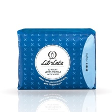 英国Lil-Lets Freshlock丽尔莱思夜用卫生巾10片(保税仓发货)