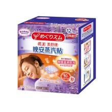 日本进口Kao花王新蒸汽晚安贴12片*2盒 薰衣草香