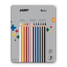 德国LAMY凌美4 plus彩色铅笔铁盒装 12支(保税仓发货)