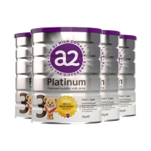 新西兰A2 Platinum酪蛋白婴儿奶粉3段(1-3周岁宝宝)900g(保税仓发货)(4件装)