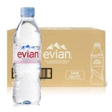 法国evian依云 依云天然矿泉水 PET瓶500ml*24瓶/箱(保税仓发货)