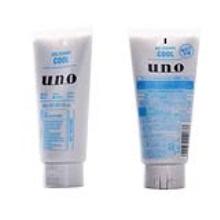 資生堂UNO男士冷感潔面凝膠130g藍色(保稅倉發貨)