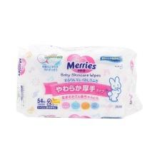日本花王Merries加厚装婴儿湿纸巾 54枚*2