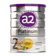 新西兰A2 Platinum酪蛋白婴儿奶粉2段(6-12个月宝宝) 900g【2罐起发】(保税仓发货)
