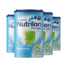 荷兰Nutrilon牛栏奶粉5段(24-36个月宝宝) 800g(保税仓发货)(4件装)