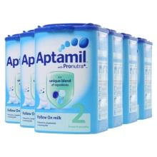 英国Aptamil爱他美婴儿奶粉2段(6-12个月宝宝)900g(保税仓发货)(6件起购)