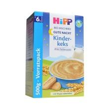 德国HiPP喜宝有机谷物牛奶饼干燕麦晚安米粉3471 (6个月以上宝宝)500g【2盒起发】(保税仓发货)