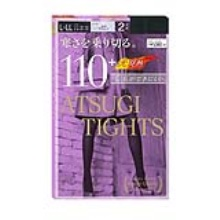 日本ATSUGI 厚木保暖110D连体裤袜 2件装  L-LL码(保税仓发货)