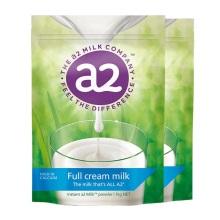 新西兰A2 袋装高钙全脂高蛋白儿童学生成人奶粉1kg【2袋起发】(保税仓发货)