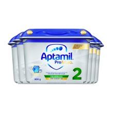 德國 Aptamil愛他美 白金版較大嬰兒配方奶粉2段 800g(新包裝)(保稅倉發貨)(6件裝)