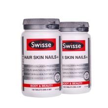澳大利亚Swisse 胶原蛋白营养片 护肤滋养头发100粒 (2件装)(保税仓发货)