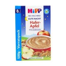 德国HiPP喜宝无糖苹果全麦晚安米粉3501( 8个月以上宝宝) 500g【2盒起发】(保税仓发货)