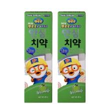 韩国Pororo宝露露小企鹅苹果味婴幼儿牙膏 80g【2瓶起发】(保税仓发货)