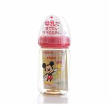 贝亲 母乳实感塑料奶瓶  160ml 米奇图案(保税仓发货)