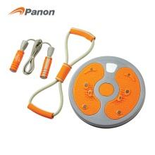 攀能(panon)健身器材3件套 扭腰盘+拉力器+跳绳