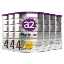 新西兰A2 Platinum酪蛋白婴儿奶粉4段(3岁以上宝宝) 900g(保税仓发货)(6件装)
