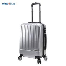 维仕蓝(Wissblue)万向轮拉杆箱登机箱男女行李箱密码硬箱银色 20寸