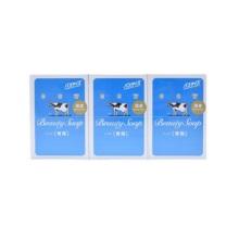 日本进口COW牛牌牛乳低刺激美肤舒爽香皂蓝盒135g*3