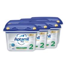 德国Aptamil爱他美白金版2段婴幼儿奶粉 800g(保税仓发货)(6件装)