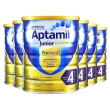 新西兰Aptamil爱他美婴儿奶粉4段(2周岁以上宝宝) 900g(保税仓发货)(6件起购)