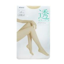 日本厚木ATSUGI透系列FP5002春夏用丝滑轻透丝袜连裤袜 433#裸米色L 1双装(保税仓发货)