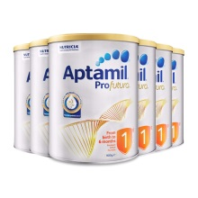 澳洲 Aptamil愛他美 白金版嬰兒配方奶粉1段 900g 0-6月齡(保稅倉發貨)(6件裝)