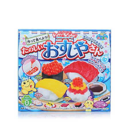 日本食玩kracie 橡皮泥快乐寿司店手工糖果28.