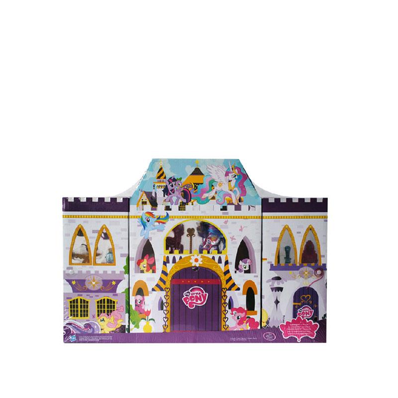 孩之寶 小馬寶莉玩具套裝公主城堡彩虹系列坎特洛特城堡套裝a36872