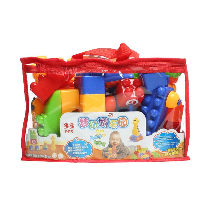 > 玩具/文体> 婴童玩具>  益智玩具 宏星606智力积木33粒  产品编号